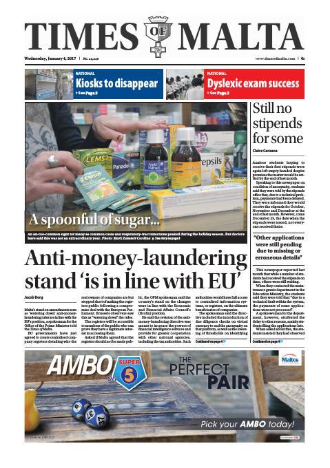 Times of Malta - Wednesday, January 4, 2017