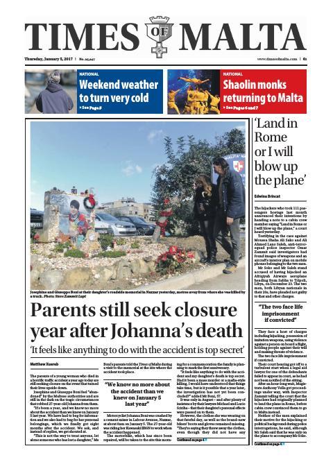 Times of Malta - Thursday, January 5, 2017
