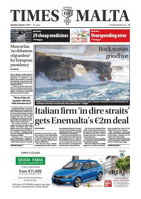 Times of Malta - Saturday, January 7, 2017