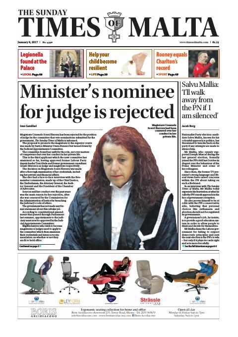 Times of Malta - Sunday, January 8, 2017