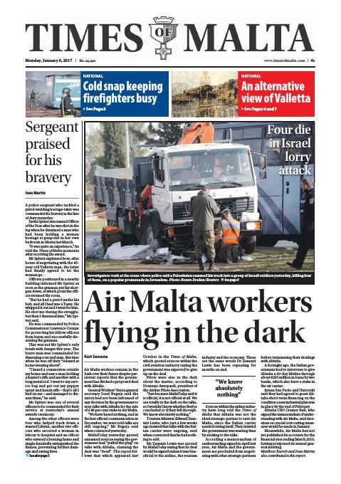 Times of Malta - Monday, January 9, 2017