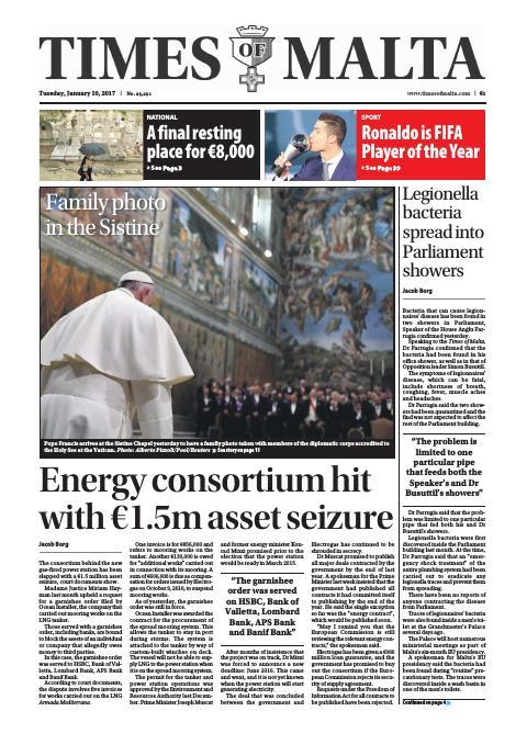Times of Malta - Tuesday, January 10, 2017