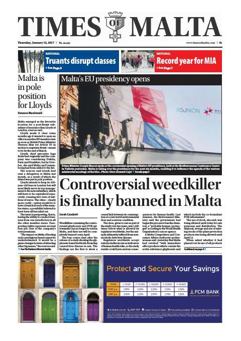 Times of Malta - Thursday, January 12, 2017