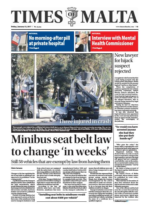 Times of Malta - Friday, January 13, 2017