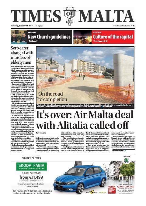 Times of Malta - Saturday, January 14, 2017