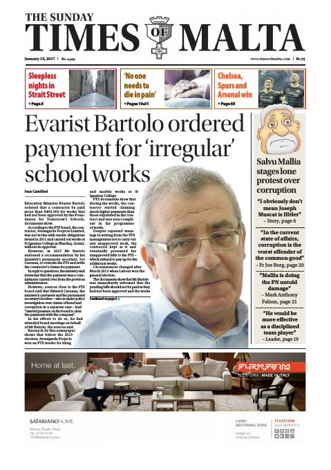 Times of Malta - Sunday, January 15, 2017