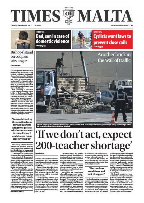 Times of Malta - Tuesday, January 17, 2017