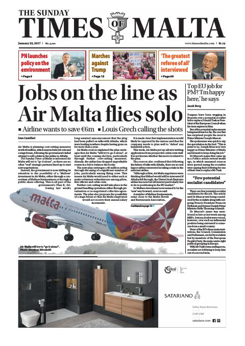 Times of Malta - Sunday, January 22, 2017