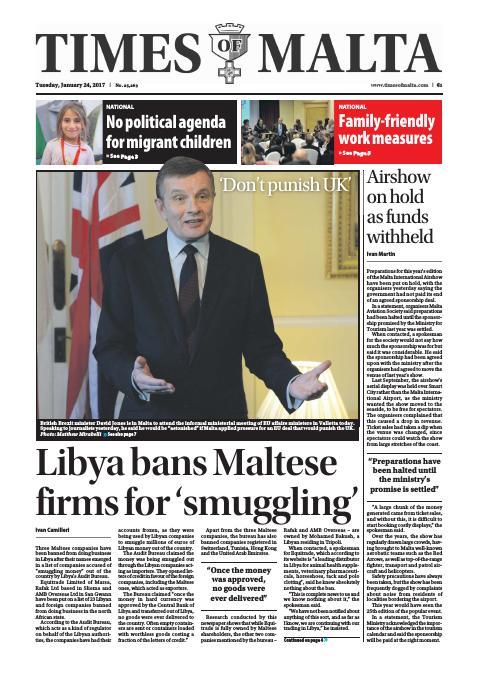 Times of Malta - Tuesday, January 24, 2017