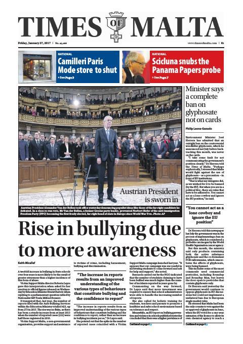 Times of Malta - Friday, January 27, 2017