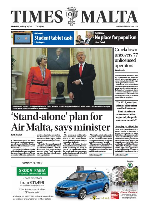 Times of Malta - Saturday, January 28, 2017