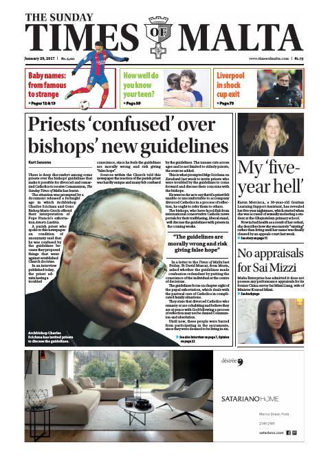 Times of Malta - Sunday, January 29, 2017