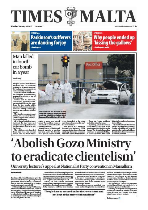 Times of Malta - Monday, January 30, 2017