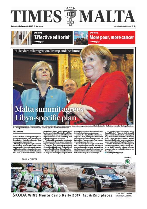 Times of Malta - Saturday, February 4, 2017