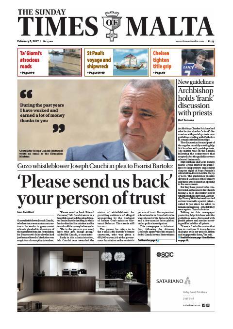 Times of Malta - Sunday, February 5, 2017