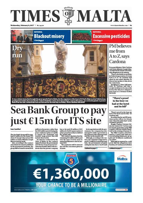 Times of Malta - Wednesday, February 8, 2017