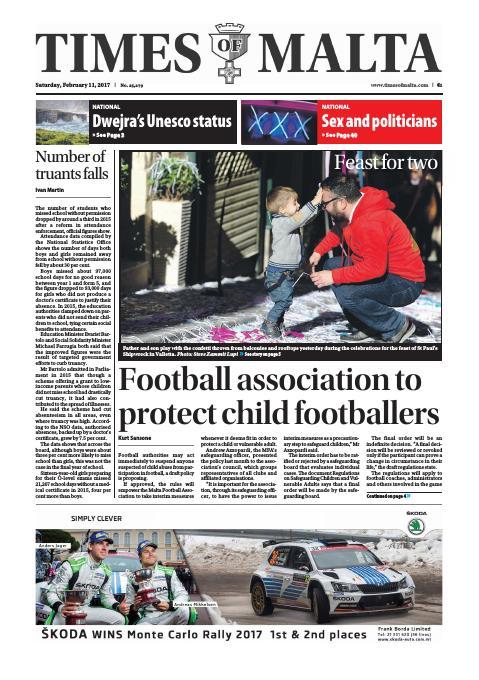 Times of Malta - Saturday, February 11, 2017