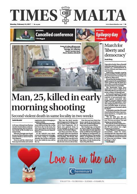 Times of Malta - Monday, February 13, 2017
