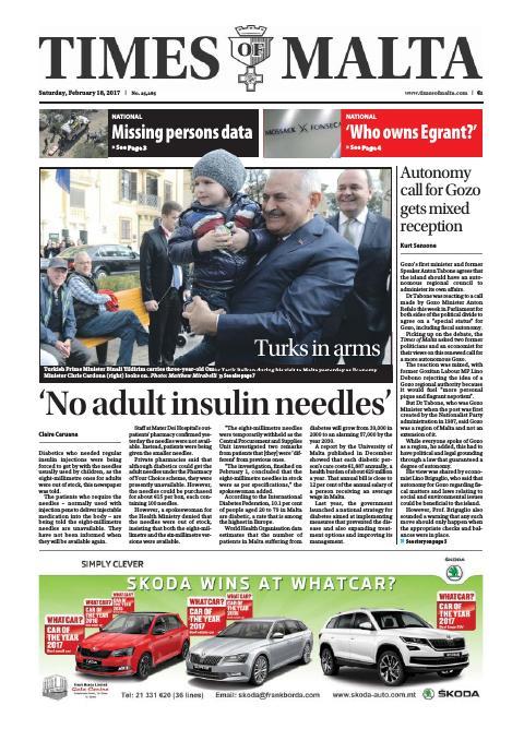 Times of Malta - Saturday, February 18, 2017