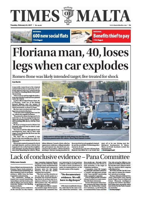 Times of Malta - Tuesday, February 21, 2017