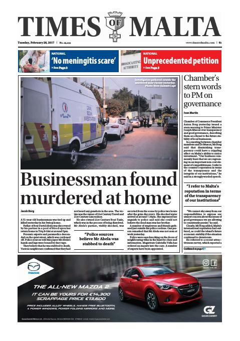 Times of Malta - Tuesday, February 28, 2017