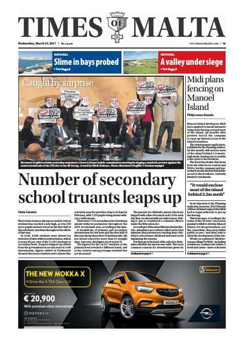 Times of Malta - Wednesday, March 15, 2017