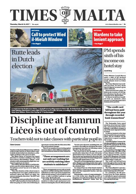 Times of Malta - Thursday, March 16, 2017