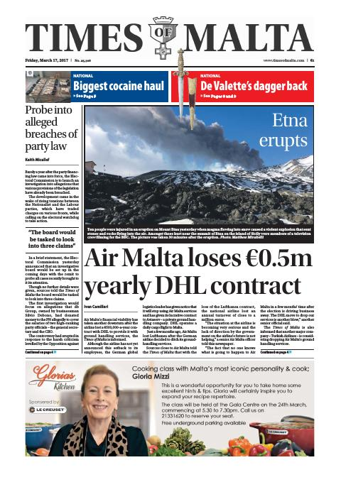 Times of Malta - Friday, March 17, 2017