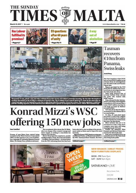 Times of Malta - Sunday, March 19, 2017