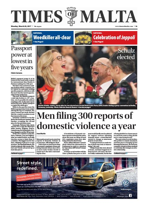 Times of Malta - Monday, March 20, 2017