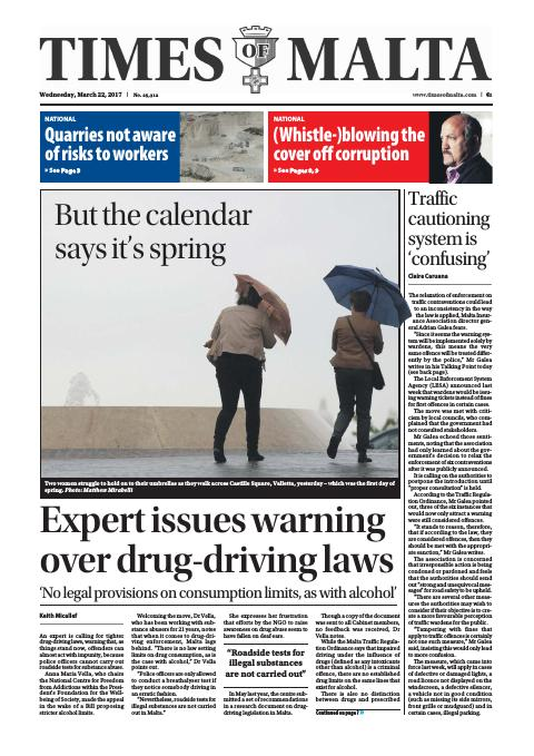 Times of Malta - Wednesday, March 22, 2017