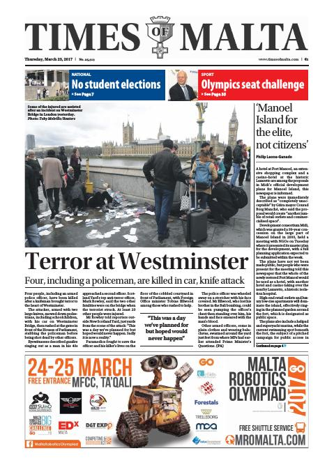 Times of Malta - Thursday, March 23, 2017