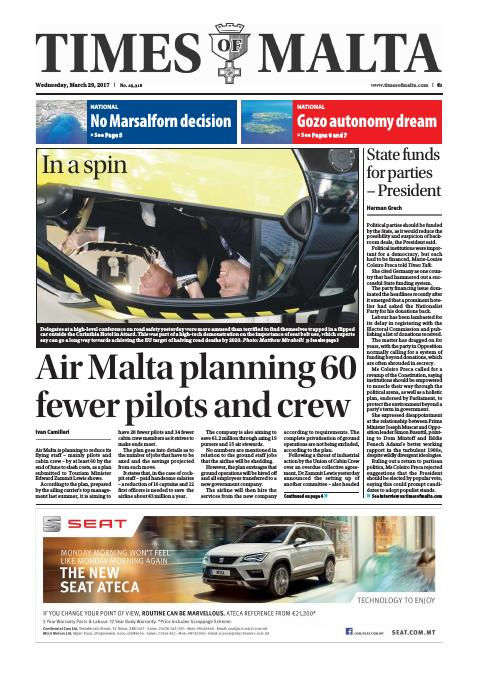 Times of Malta - Wednesday, March 29, 2017