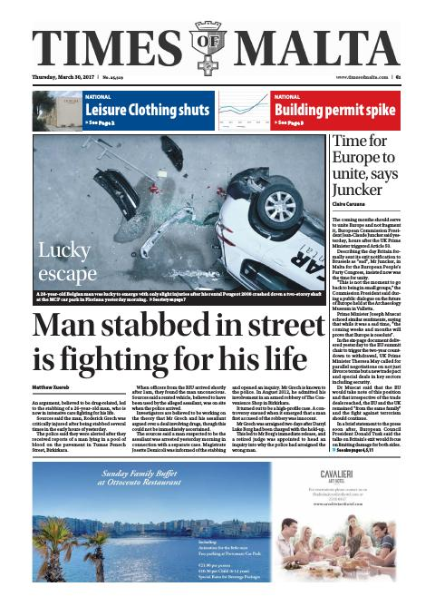 Times of Malta - Thursday, March 30, 2017