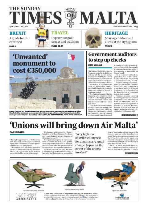 Times of Malta - Sunday, April 2, 2017
