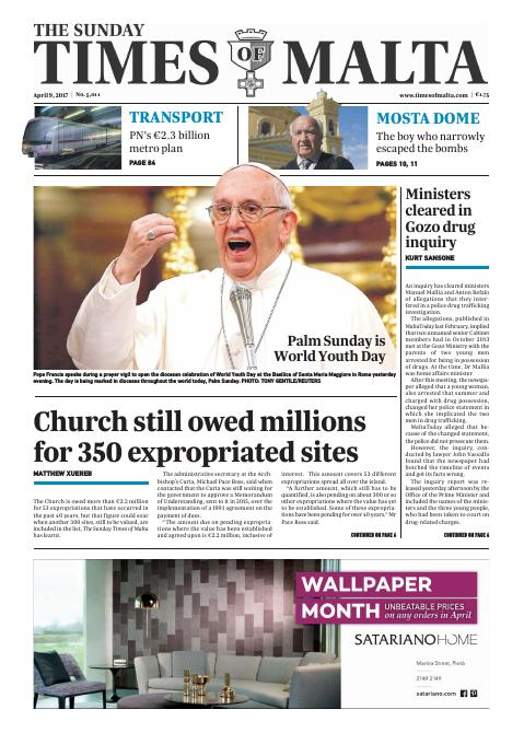 Times of Malta - Sunday, April 9, 2017