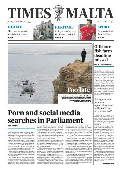 Times of Malta - Tuesday, April 18, 2017