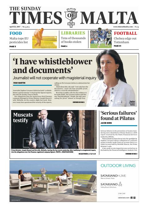 Times of Malta - Sunday, April 23, 2017
