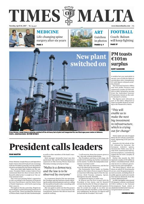 Times of Malta - Tuesday, April 25, 2017