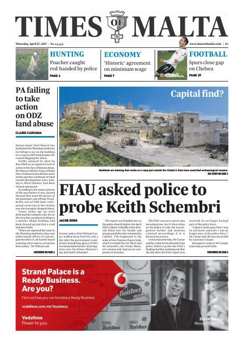 Times of Malta - Thursday, April 27, 2017