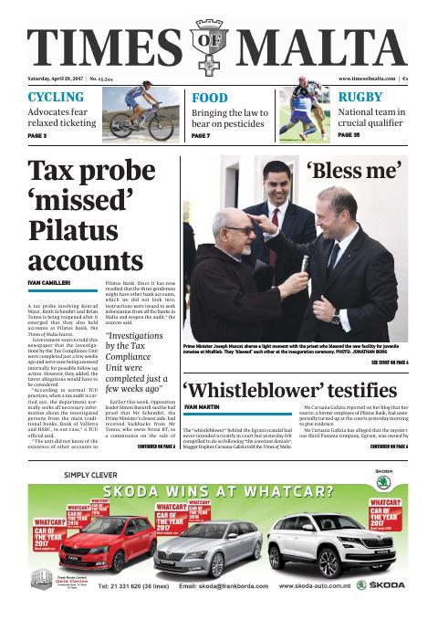 Times of Malta - Saturday, April 29, 2017