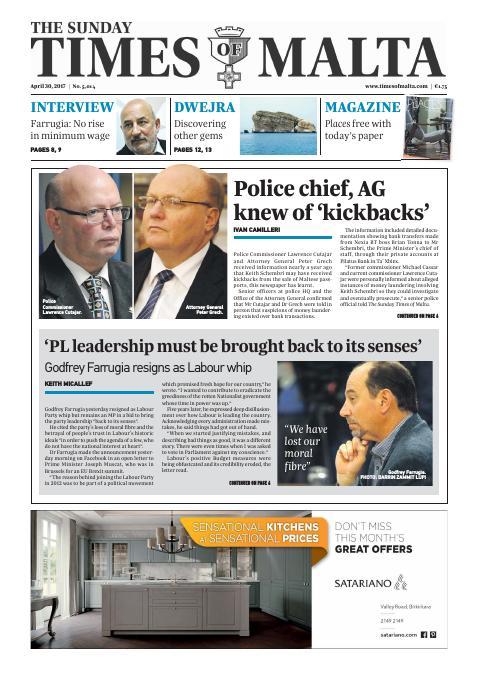 Times of Malta - Sunday, April 30, 2017