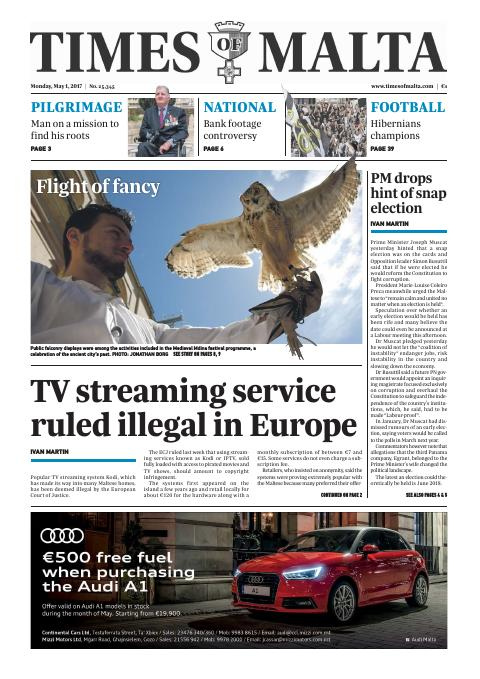 Times of Malta - Monday, May 1, 2017