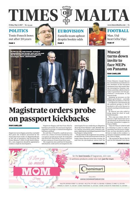 Times of Malta - Friday, May 5, 2017