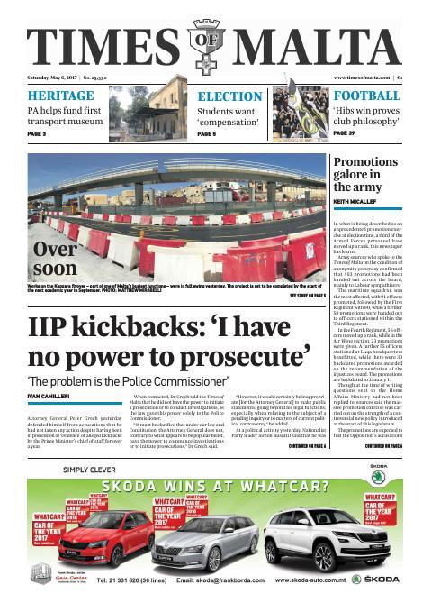 Times of Malta - Saturday, May 6, 2017