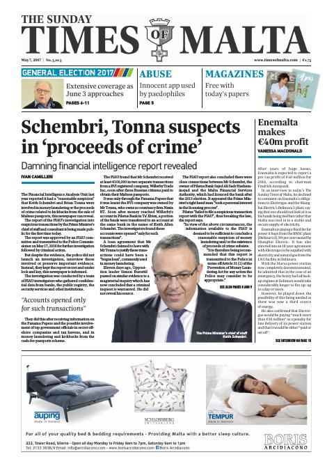 Times of Malta - Sunday, May 7, 2017