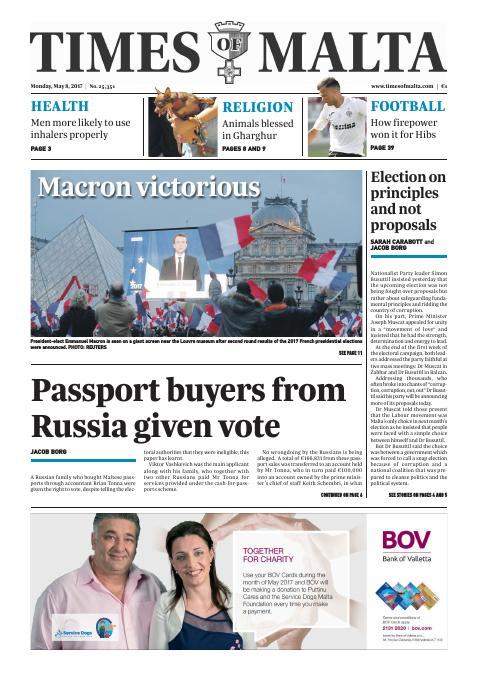 Times of Malta - Monday, May 8, 2017