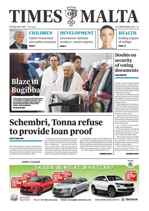 Times of Malta - Tuesday, May 9, 2017