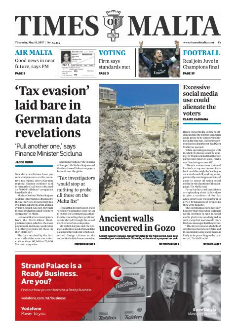 Times of Malta - Thursday, May 11, 2017