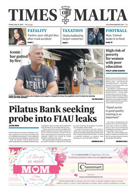 Times of Malta - Friday, May 12, 2017